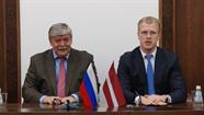 """Daugavpils mēra A. Elksniņa tikšanās ar Krievijas vēstnieku Latvijā J. Lukjanovu: """"Esam atvērti  sadarbībai dažādās nozarēs"""""""