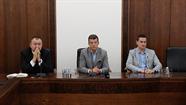 Preses konferences laikā Daugavpils mērs Rihards Eigims pateicās Latvijas Valsts svētku rīkotājiem
