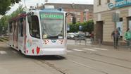 Pilsētā parādījās tramvajs ar sociālo reklāmu